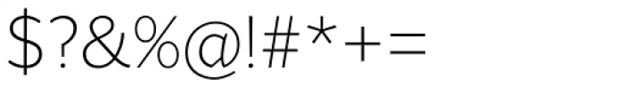 Range Sans Extra Light Font OTHER CHARS