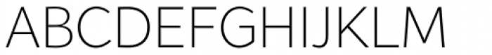 Range Sans Extra Light Font UPPERCASE