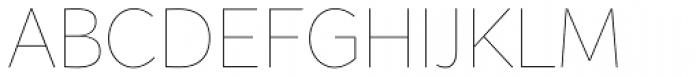 Range Sans Ultra Light Font UPPERCASE