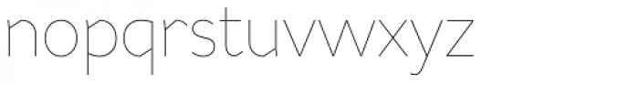 Range Sans Ultra Light Font LOWERCASE