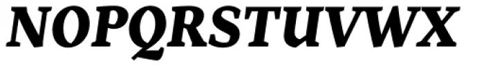 Range Serif Black Italic Font UPPERCASE