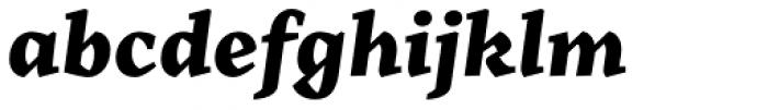 Range Serif Black Italic Font LOWERCASE