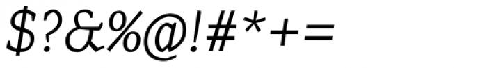 Range Serif Light Italic Font OTHER CHARS