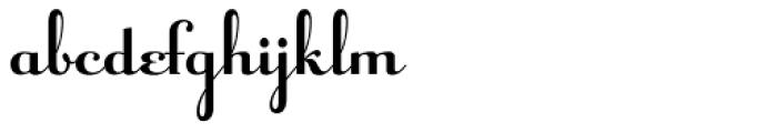 Raniscript Font LOWERCASE