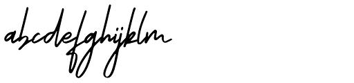 Ranormal Regular Font LOWERCASE