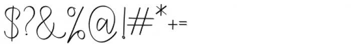 Rasendrya Regular Font OTHER CHARS