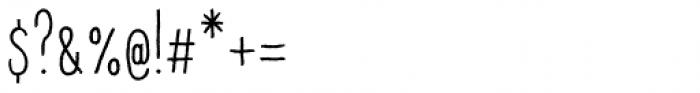 Raski Bold Condensed Font OTHER CHARS