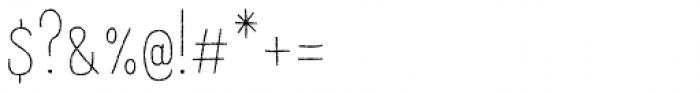 Raski Regular Font OTHER CHARS