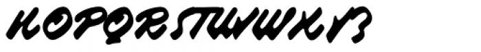 Raspberry Script Font UPPERCASE