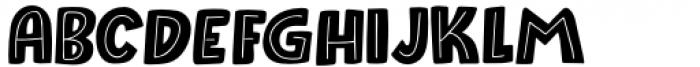 Raspberry Sherbet Inline Regular Font UPPERCASE