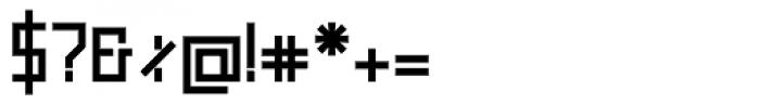 Raster Black Font OTHER CHARS