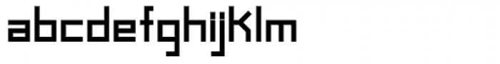 Raster Black Font LOWERCASE