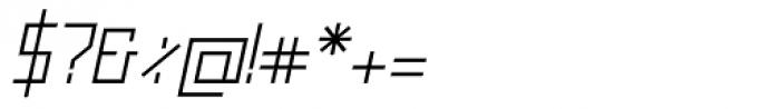 Raster Regular Oblique Font OTHER CHARS