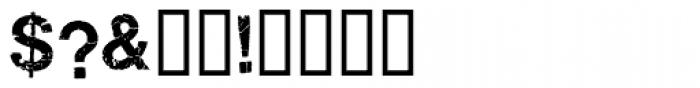 Ratbag Font OTHER CHARS