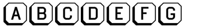 Ratcaps PC 3D Font LOWERCASE