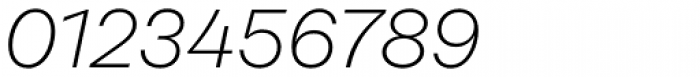 Rational Display ExtraLight Italic Font OTHER CHARS