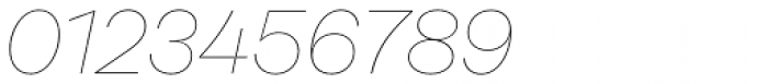 Rational Display Hairline Italic Font OTHER CHARS
