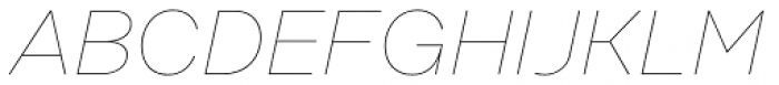 Rational Display Hairline Italic Font UPPERCASE
