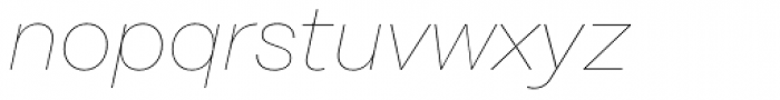 Rational Display Hairline Italic Font LOWERCASE