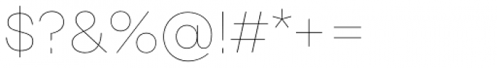 Rational Display Hairline Font OTHER CHARS