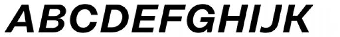 Rational Display SemiBold Italic Font UPPERCASE