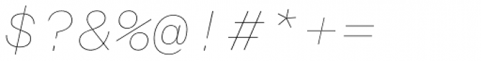Rational TW Display Hairline Italic Font OTHER CHARS