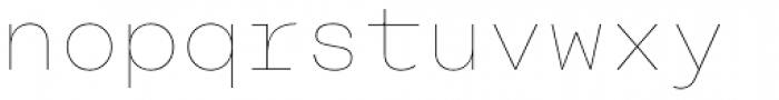 Rational TW Display Hairline Font LOWERCASE