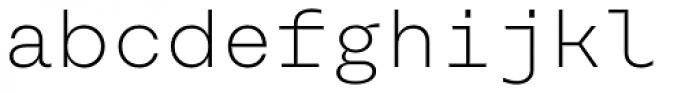 Rational TW Text Extra Light Font LOWERCASE