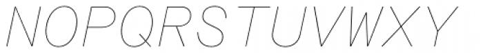 Rational TW Text Hairline Italic Font UPPERCASE