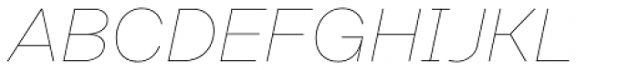 Rational Text Hairline Italic Font UPPERCASE