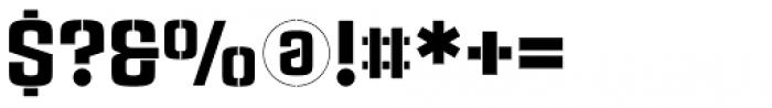 Rauda Stencil Font OTHER CHARS