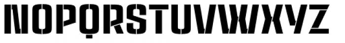 Rauda Stencil Font UPPERCASE