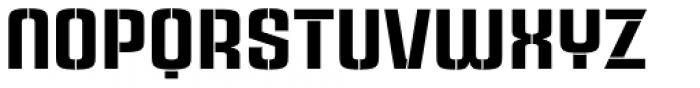 Rauda Stencil Font LOWERCASE