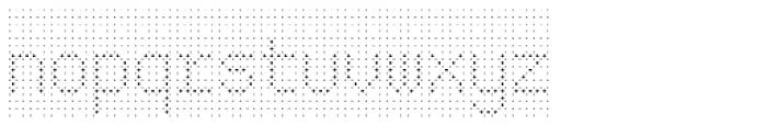 Rauschen 01 Font LOWERCASE