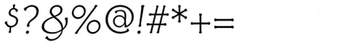 Ravenna Light Italic Font OTHER CHARS