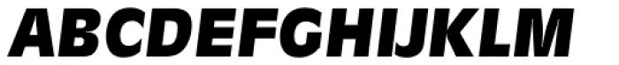 Ravenna Serial Heavy Italic Font UPPERCASE