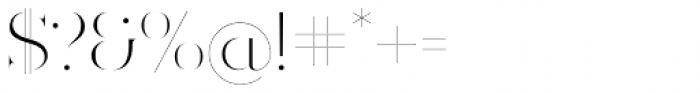 Ravensara Antiqua Stencil Light Font OTHER CHARS
