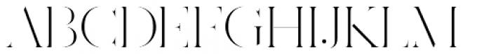 Ravensara Antiqua Stencil Light Font UPPERCASE