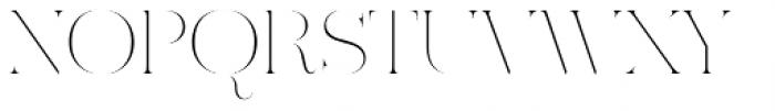 Ravensara Antiqua Stencil Thin Font UPPERCASE