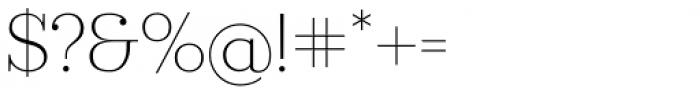 Ravensara Serif Light Font OTHER CHARS