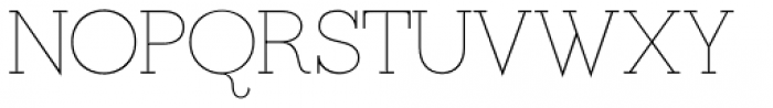 Ravensara Serif Thin Font UPPERCASE
