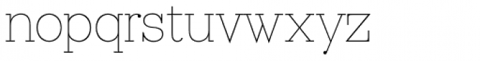Ravensara Serif Thin Font LOWERCASE