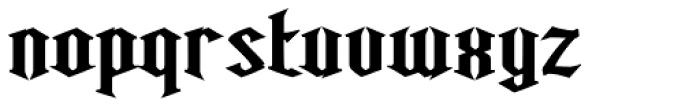Ravenwood One Bold Font LOWERCASE