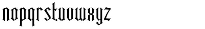 Ravenwood One Condensed Font LOWERCASE