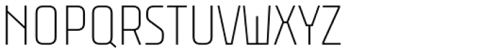Rawer Condensed Thin Font UPPERCASE
