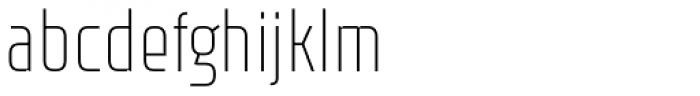 Rawer Condensed Thin Font LOWERCASE