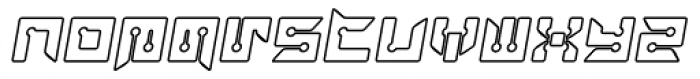 Rayzor Blunt Outline Italic Font LOWERCASE