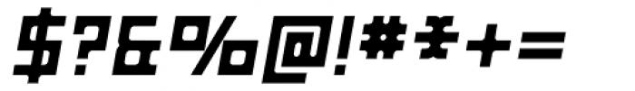 Razorsuite Bold Oblique Font OTHER CHARS