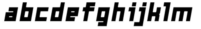 Razorsuite ExtraBold Oblique Font LOWERCASE