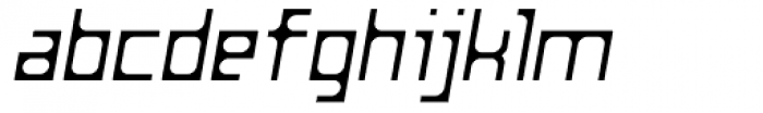Razorsuite Light Oblique Font LOWERCASE
